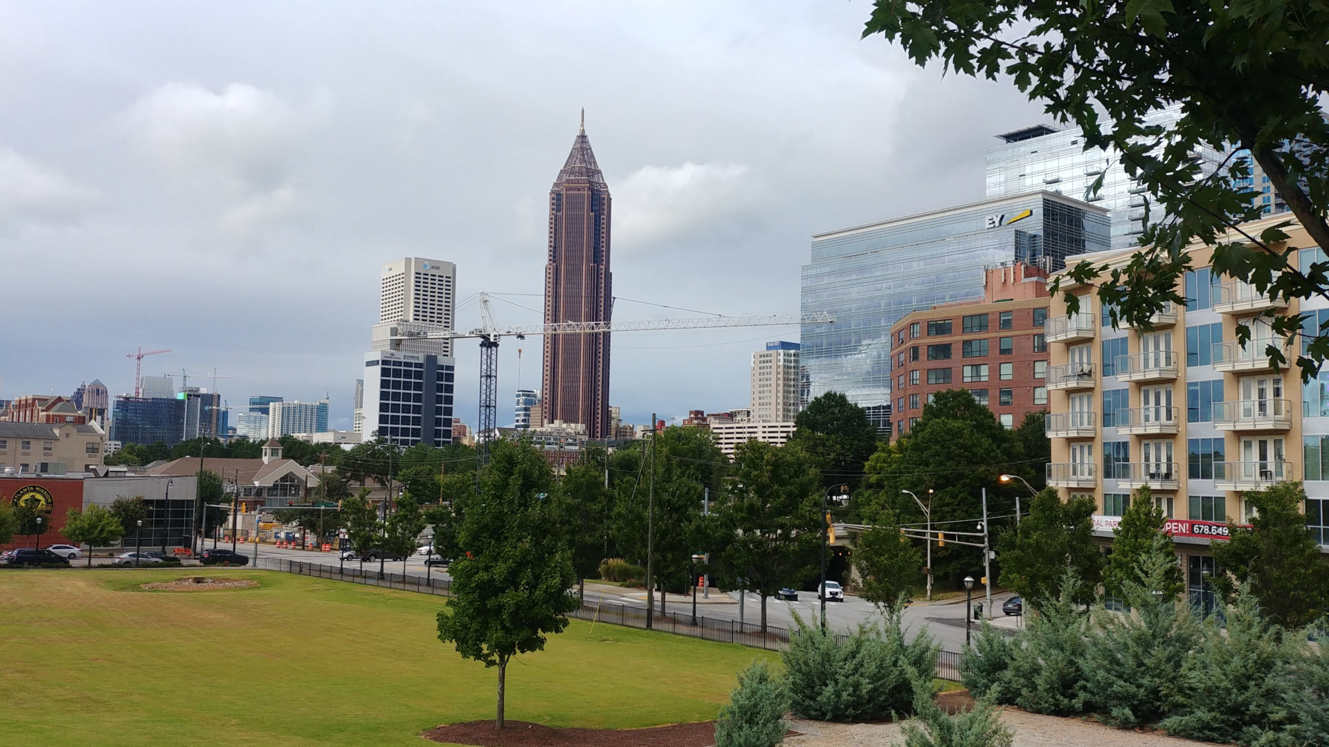 Atlanta Downtown from the World of Coca Cola entrance
