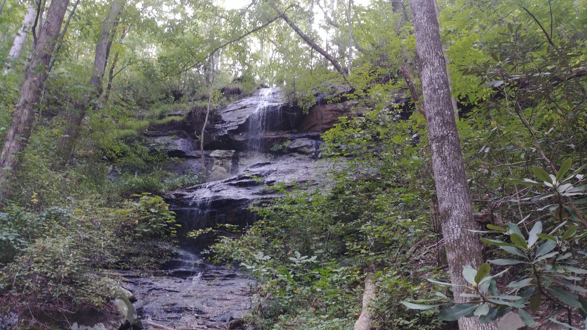 Hidden falls is really in middle of South Carolina forest and although it seems quite unimpressive, it is because direct view is covered by bushes and trees