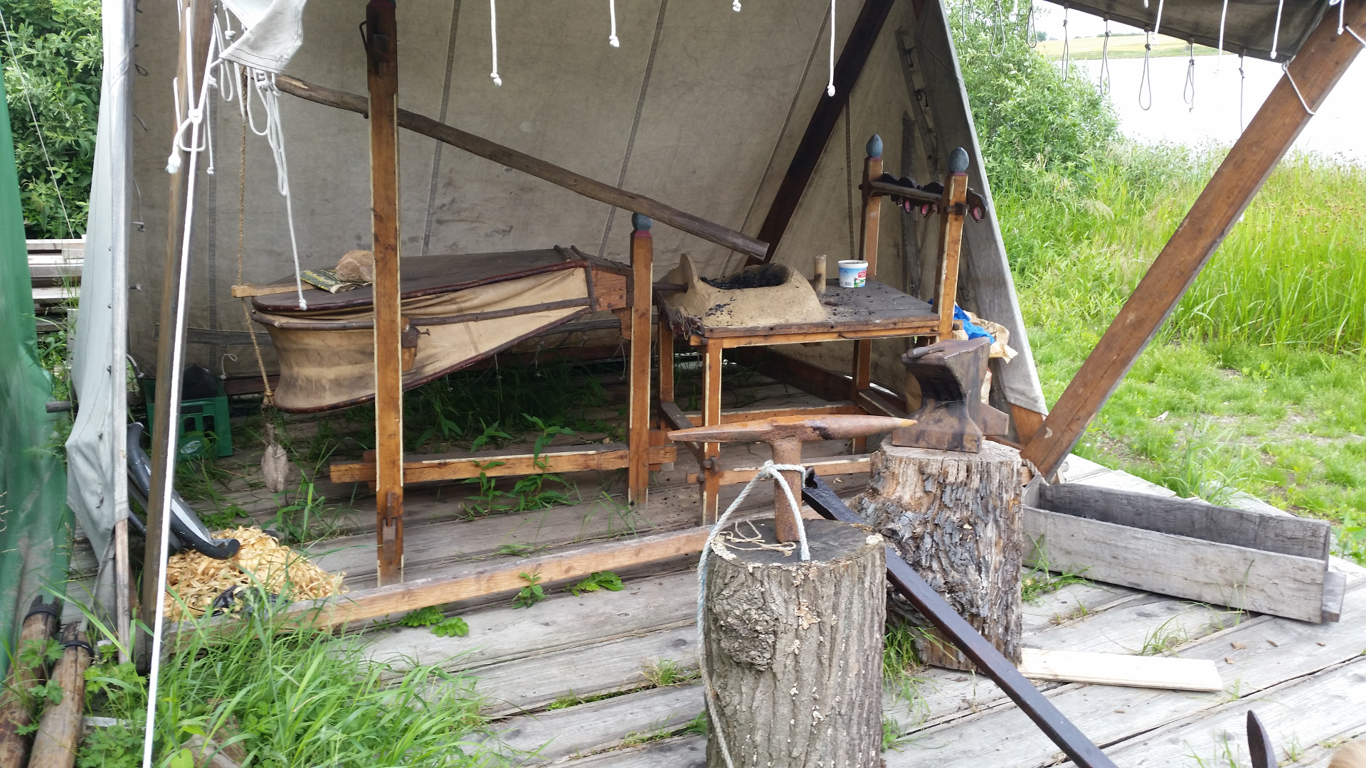 Blacksmith replica in Landby Viking museum