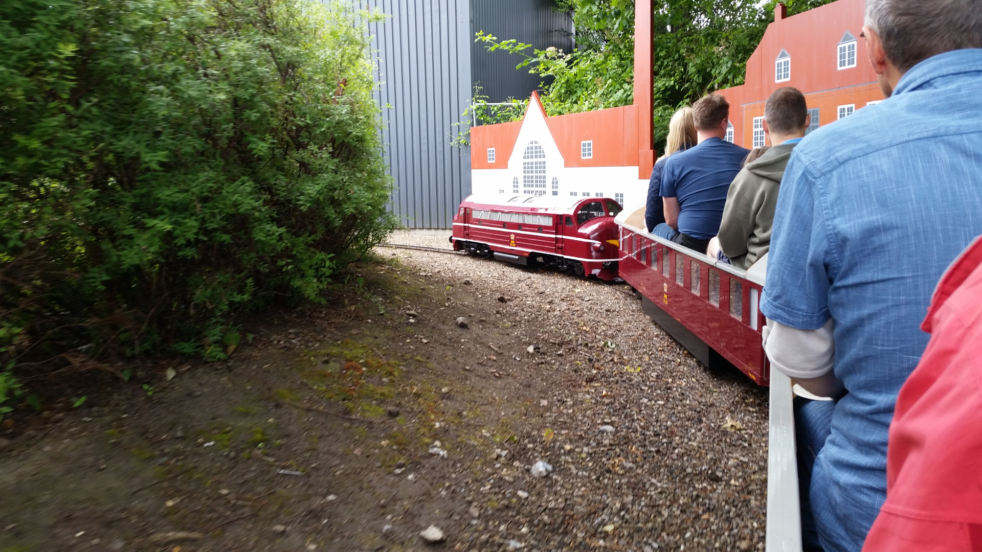 Minitrain around the Odense Denmark Railway museum is popular with kids and adults