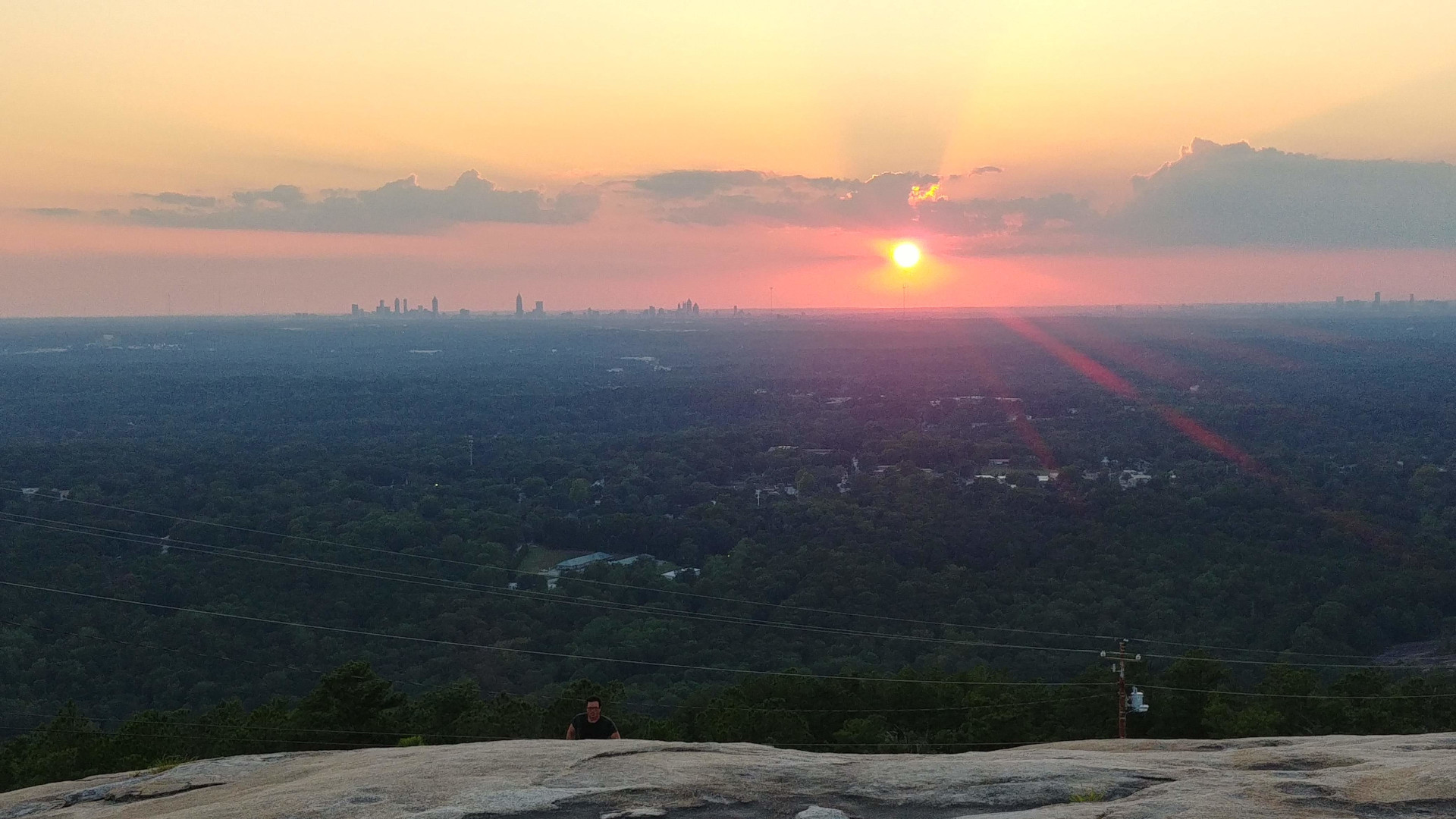 Amazing Sunsets on Stone mountain provides a great scenery