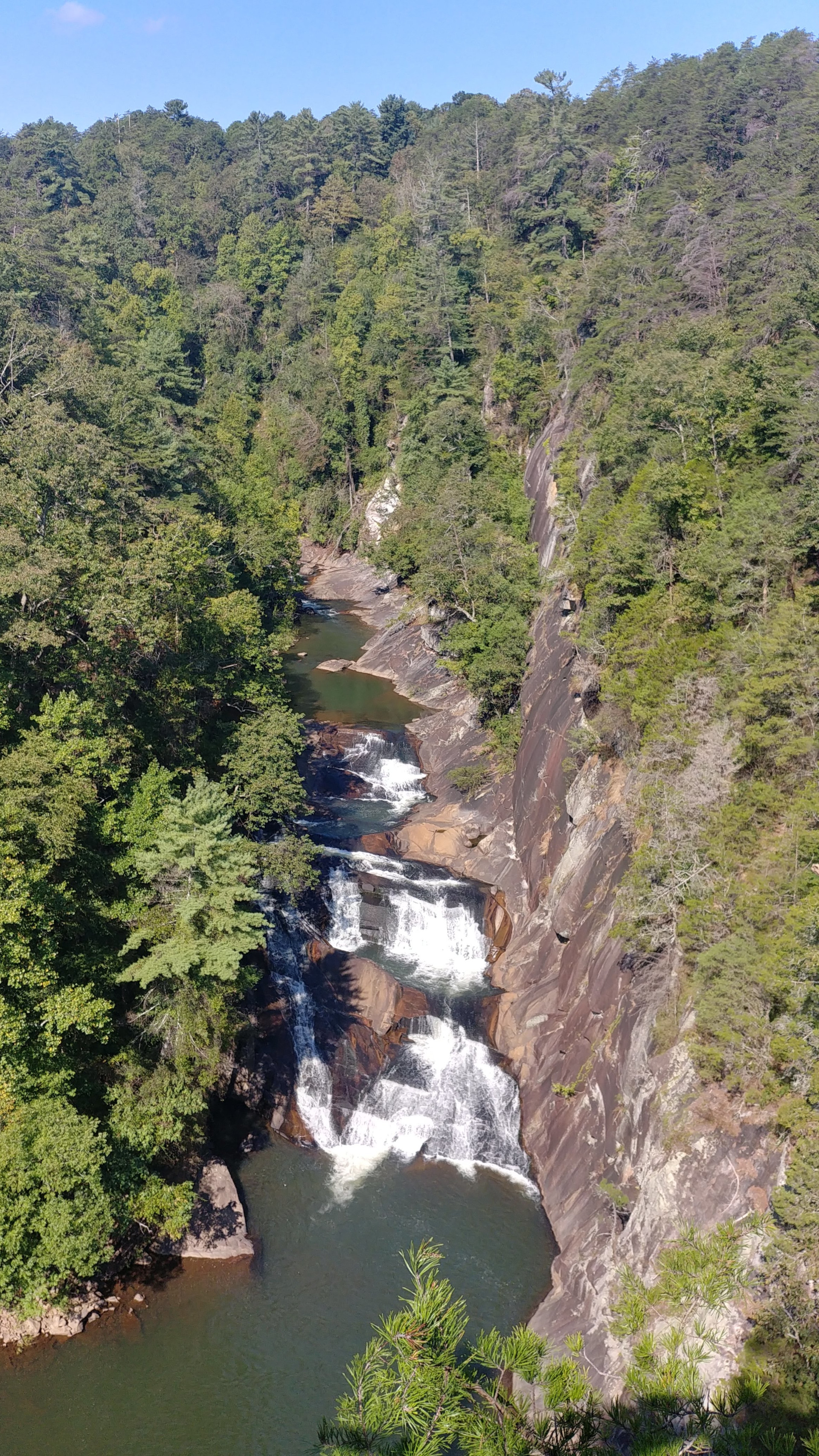 Tallulah Gorge State Park is very tourist, but that does not make it any less fascinating